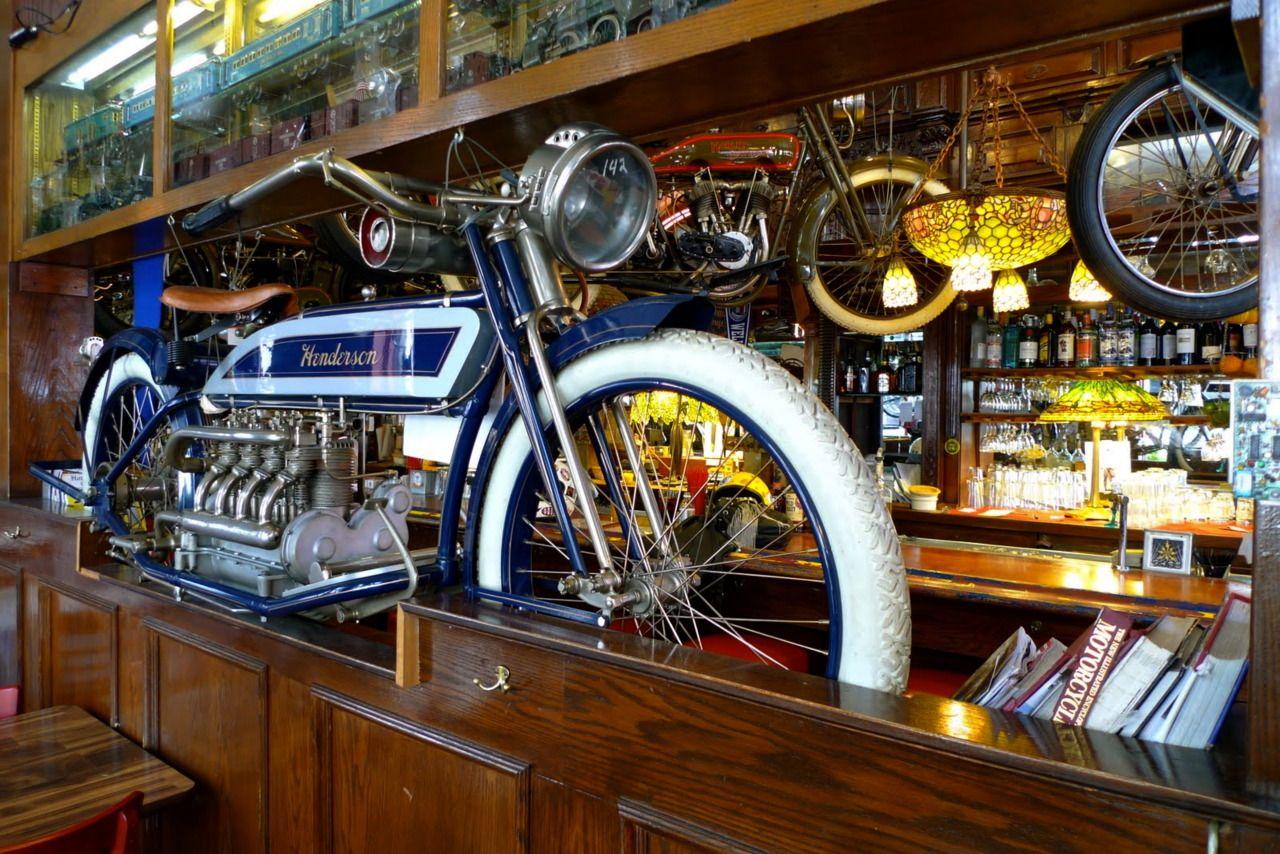 Motorcycle bar custom cool motorcycles bikes pinterest bar men cave and man caves - American motorbike garage ...
