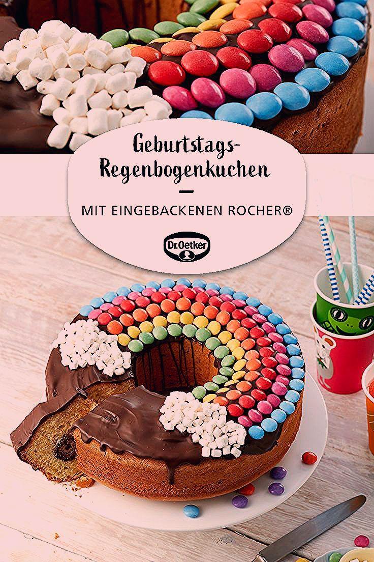 Photo of Geburtstags-Regenbogenkuchen