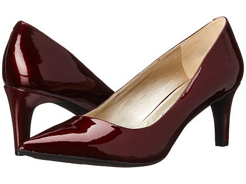 Womens Shoes Anne Klein Barb Wine Patent