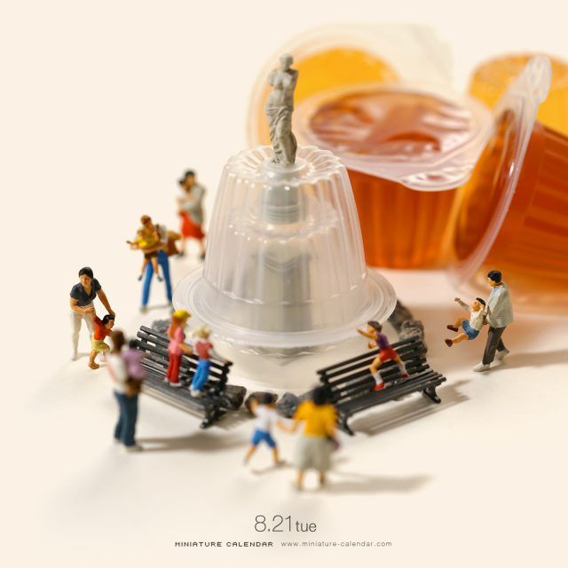 Miniature Calendar Miniature Art In 2019 Miniature Calendar