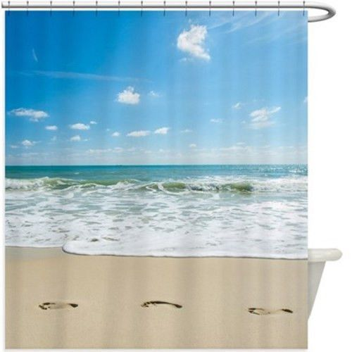 Beach Footprints Shower Curtain 104R