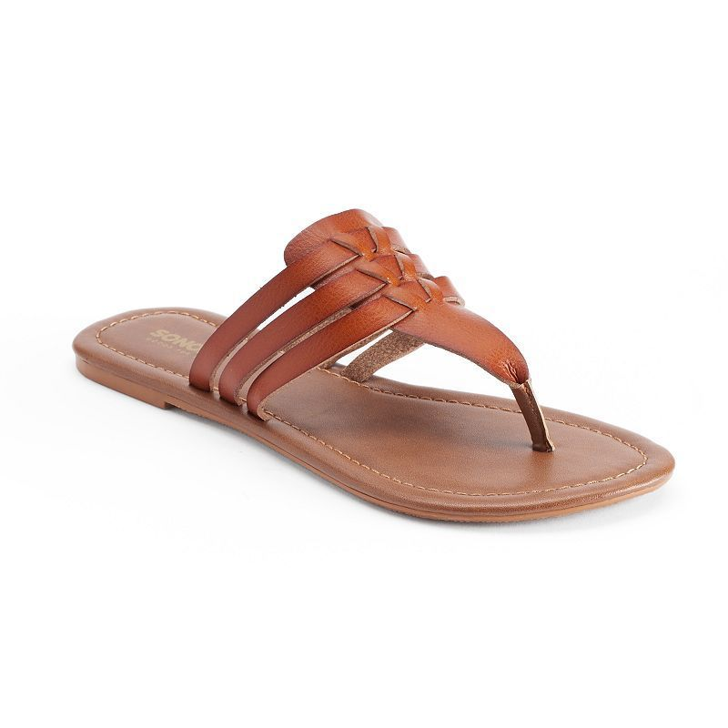 SONOMA Goods for Life™ Woman's Huarache Thong Sandals, Med Brown