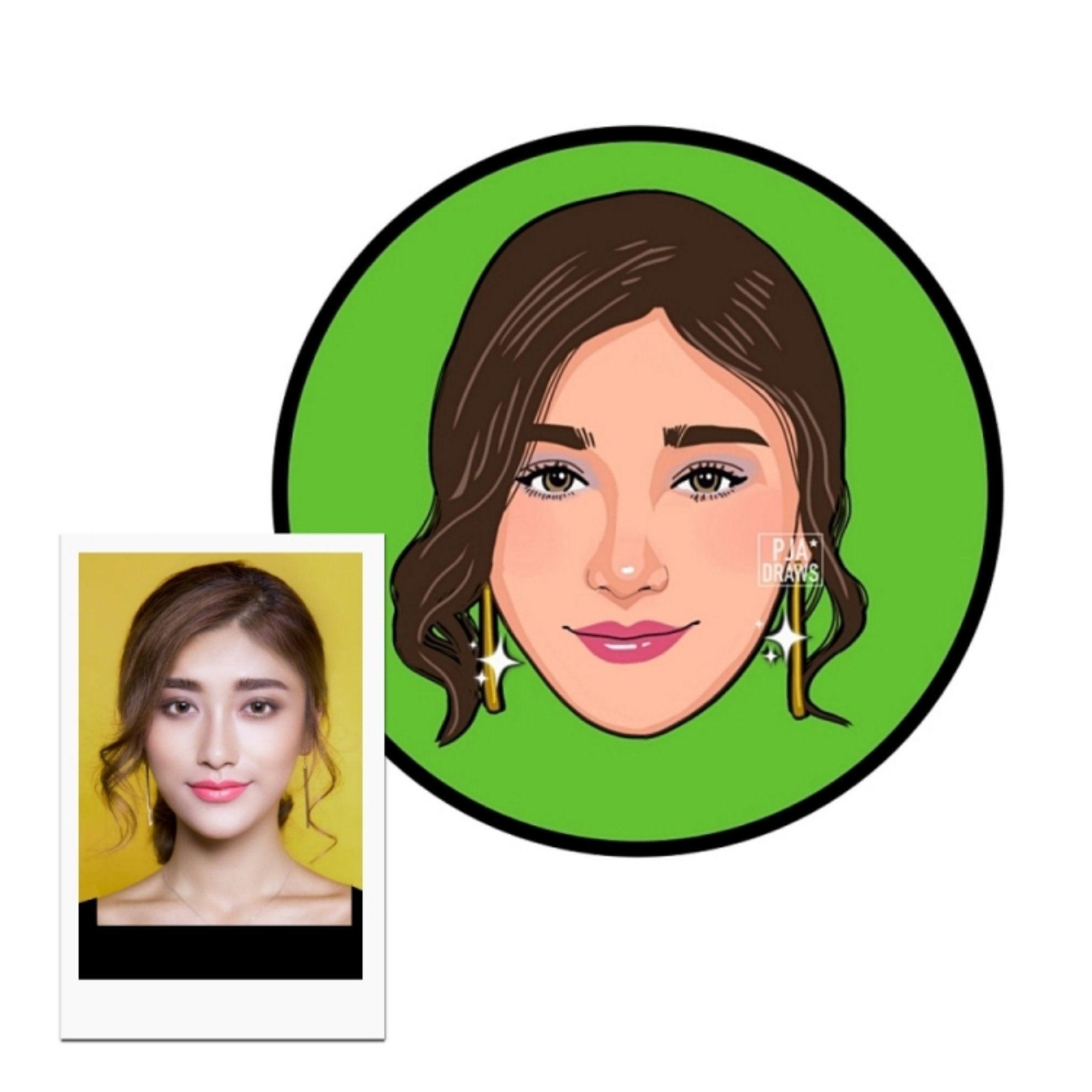 Cartoon Headshot Social Media Logo Cartoon Portrait Etsy In 2020 Portrait Drawing Photo To Cartoon Caricature