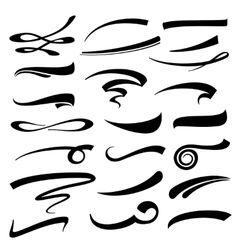 Hand Lettering Underlines Set Vector