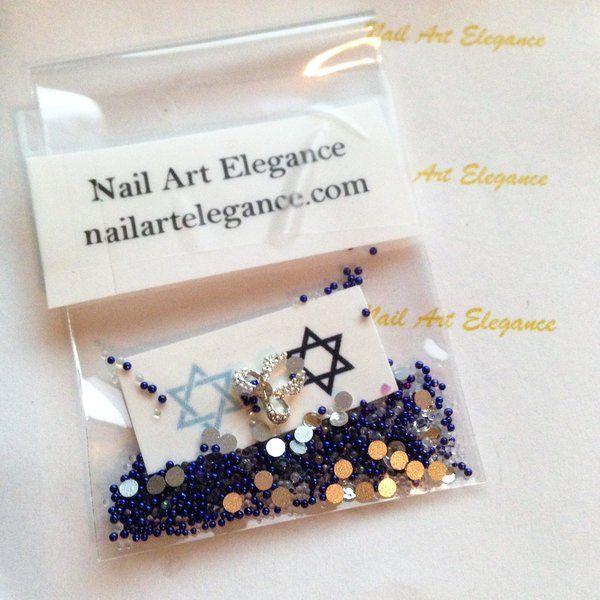 Custom Nail Art Kit Star of David Holiday Shop online for beautiful ...