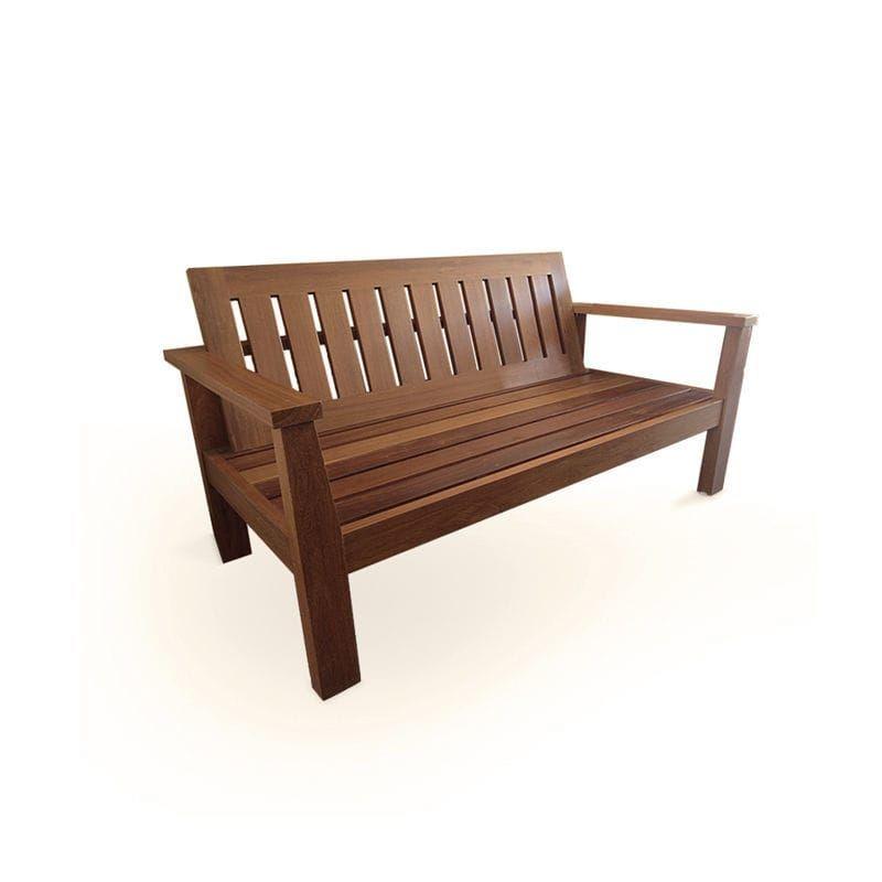 Bank für den Garten / modern / Holz / Rückenlehnen BT 110
