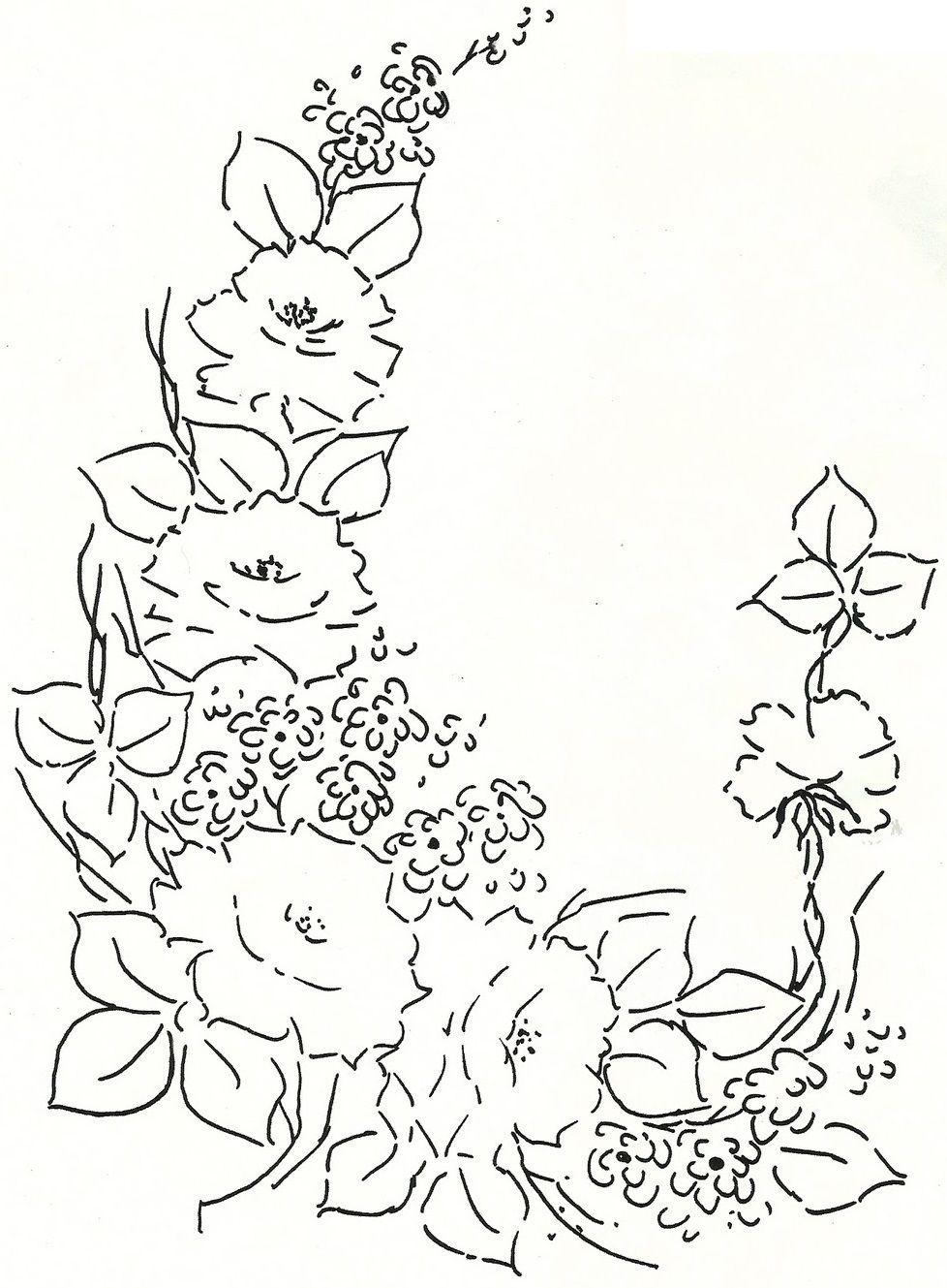 Pintura em tecido riscos para pintar rosas patrones for Pinturas para pintar