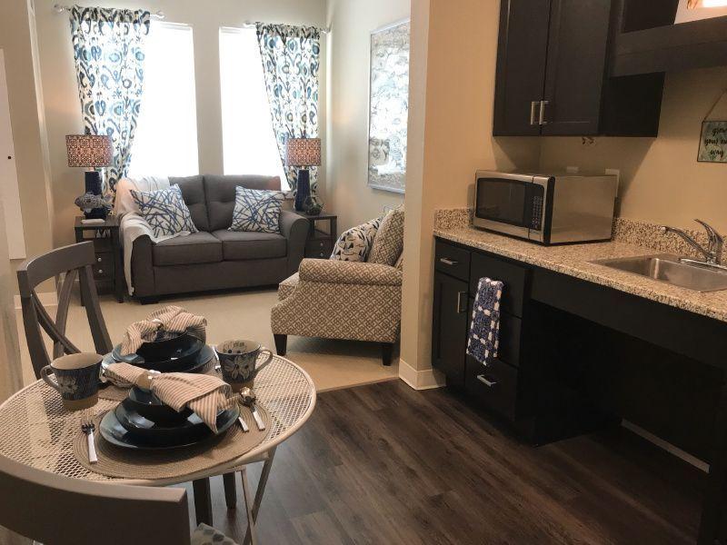 Sample Apartment Decor in a Senior Living Community, Elan