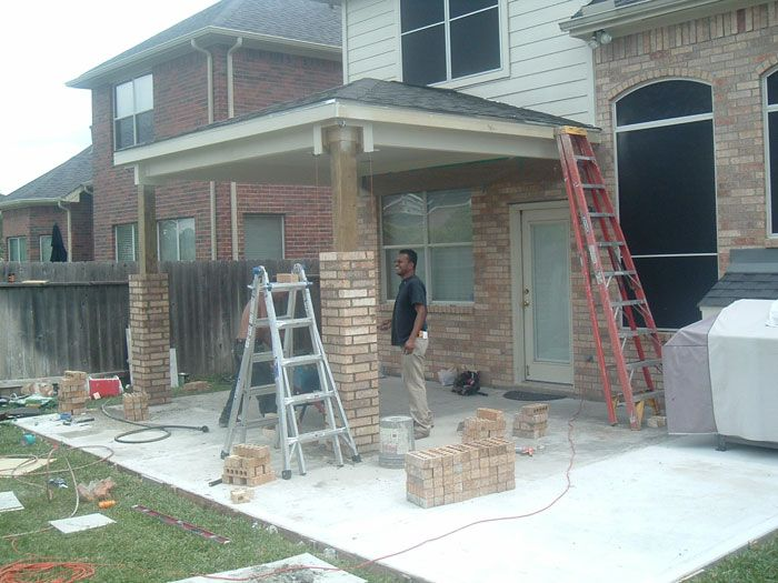 The best way to build brick columns home projects for How to build a house on pillars