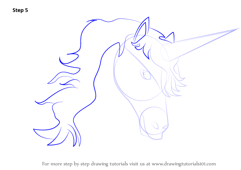 Learn how to draw unicorn head unicorns step by step drawing tutorials