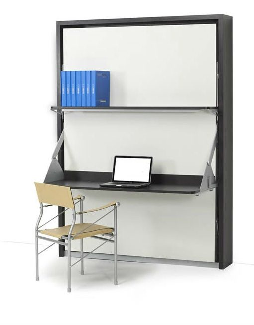 Vertical Italian Wall Bed Desk Expand Furniture (With