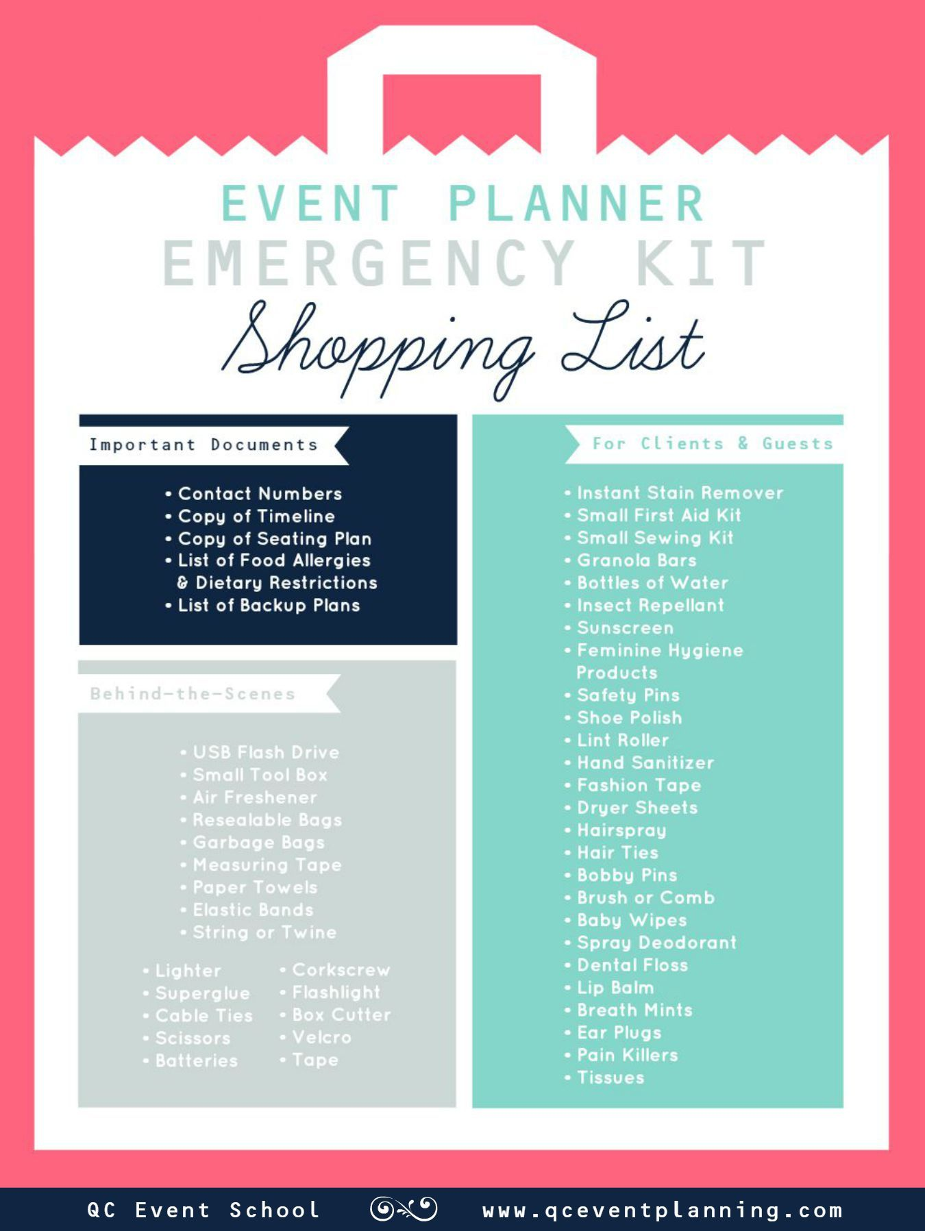 Event Planner Emergency Kit Infographic scheduled via httpwww