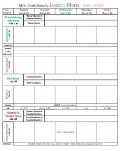 Great excel lesson plan template lesson plan templates for Outstanding lesson plan template