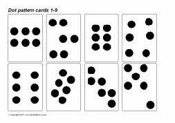 Dot Pattern Subitizing Cards 1 9 Sb4825 Sparklebox Number