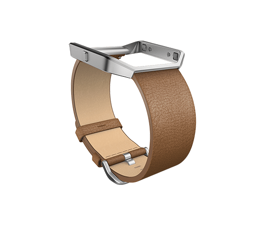 Fitbit Blaze Accessory Band Leather Camel Small FREE SHIPPING