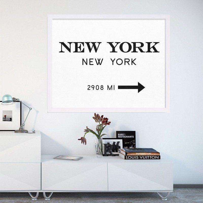 New York City Fashion Art NYC Art Black and White Print Modern Print ...