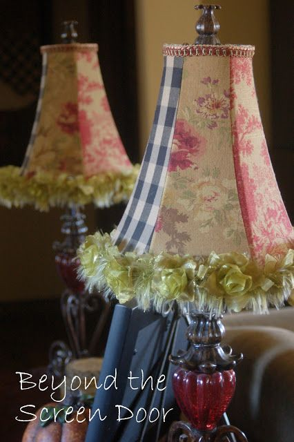 A new life for lamps lampshades alike beyond the screen door chandeliers lights and lampshades pinterest lampshades screens and doors