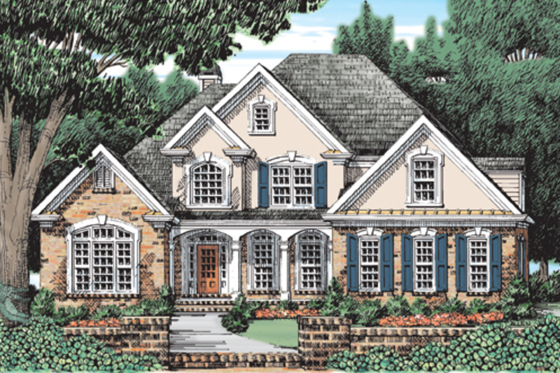 Traditional Style House Plan 4 Beds 2 5 Baths 2806 Sq Ft Plan 927 126 House Plans French Country House Plans House Layouts
