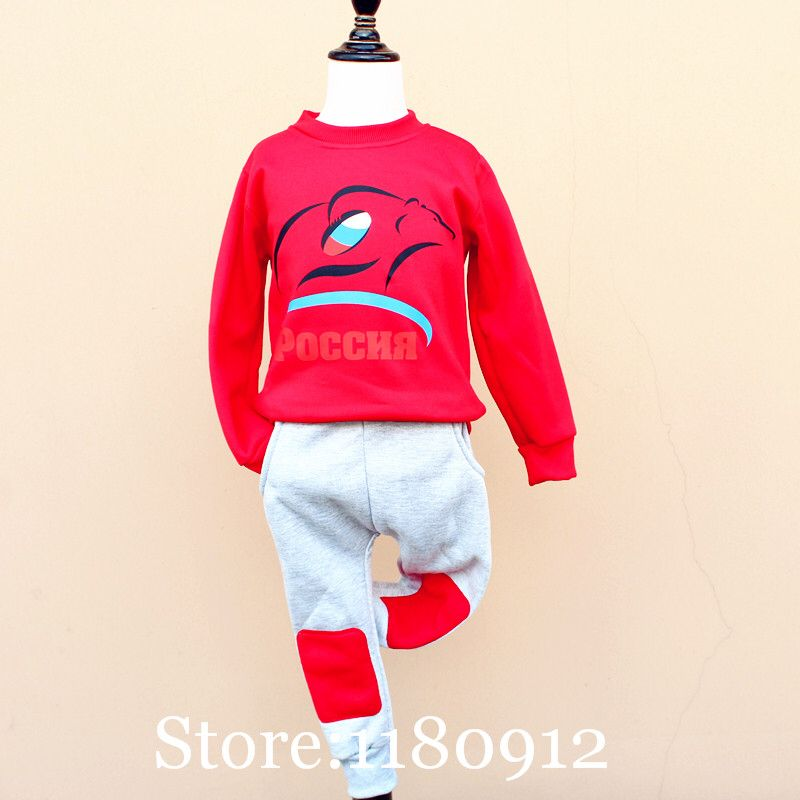 Olike Brand Winter Baby Boys Clothes Rugby Football Red Square Children S Tracksuit Sports Kids