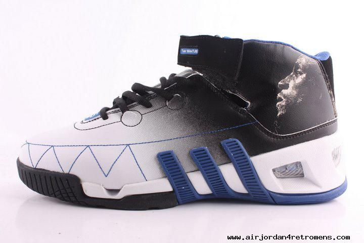 the latest 00f8a 74ce3 Adidas shoes Kevin Garnett VI Basketball shoes Black White Blue For Sale