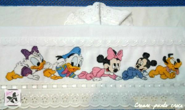 Lenzuolino Banda Baby Disney Punto Croce Punto Croce