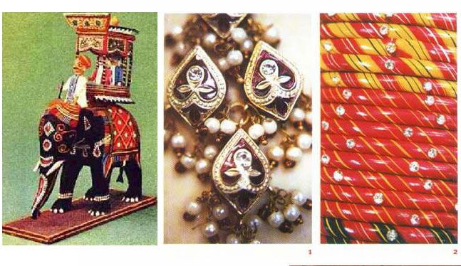 The #Lacquered art of #Rajasthan having its origin in the 18th century was patronized by #Maharaja Ram Singh of Jaipur.