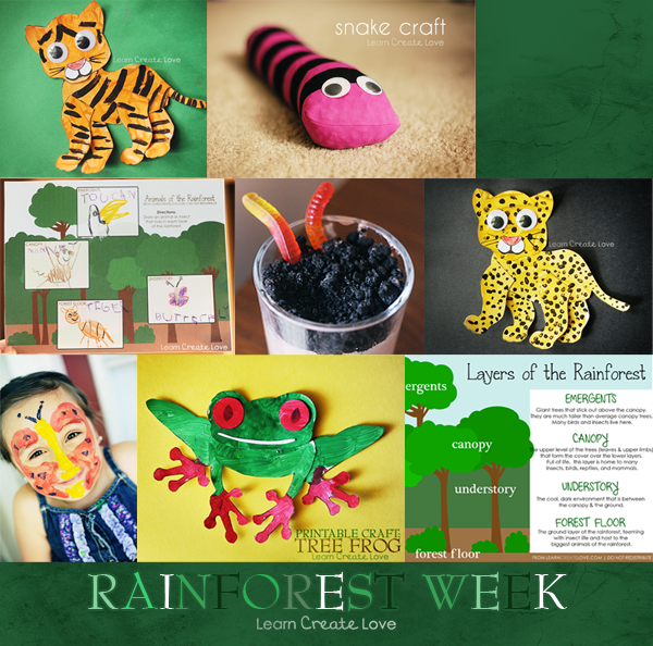 Rain Forest Craft Ideas With Printable Patterns Look Through Her