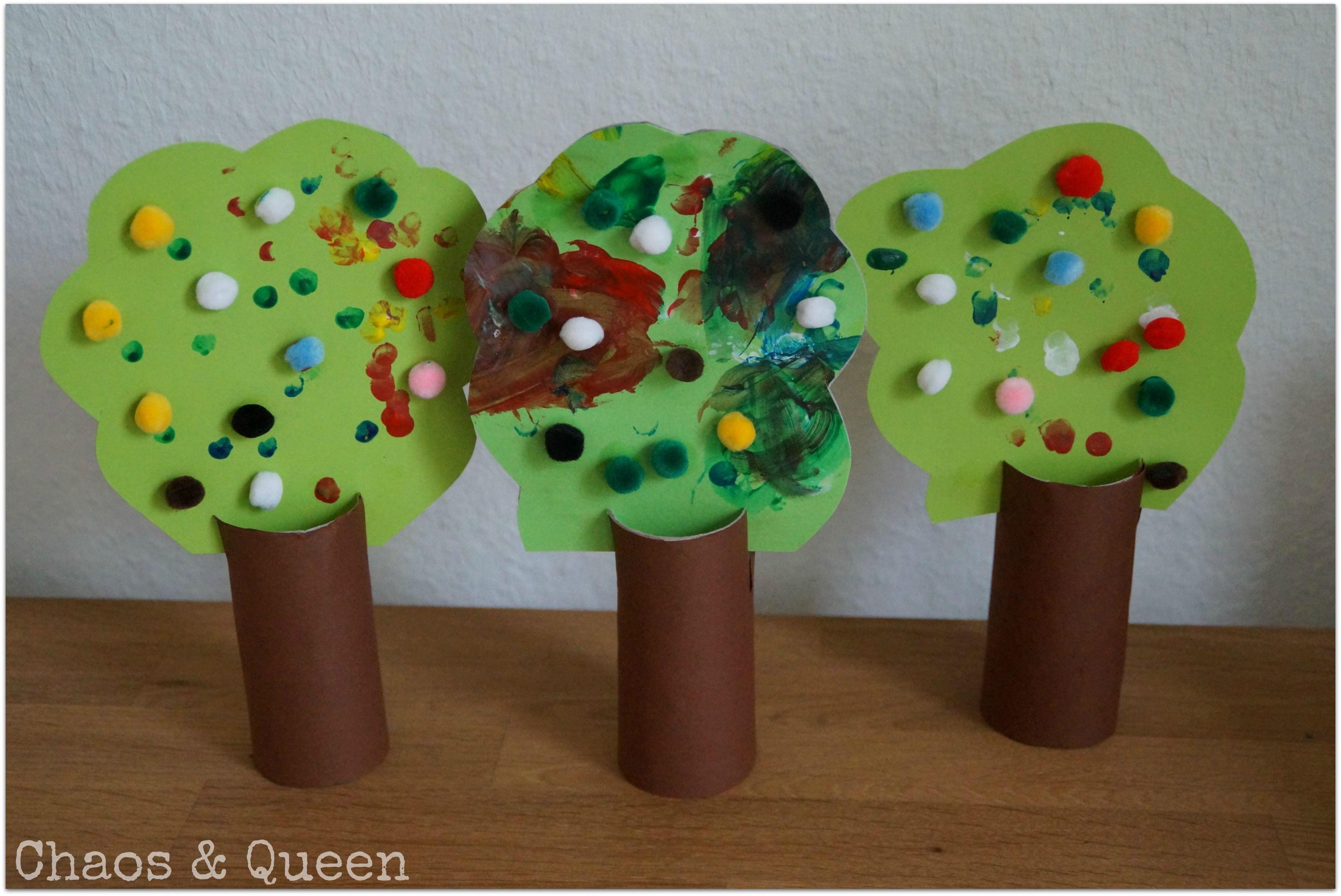 Basteln Mit Kleinkind Herbstbäume Crafts For Kids