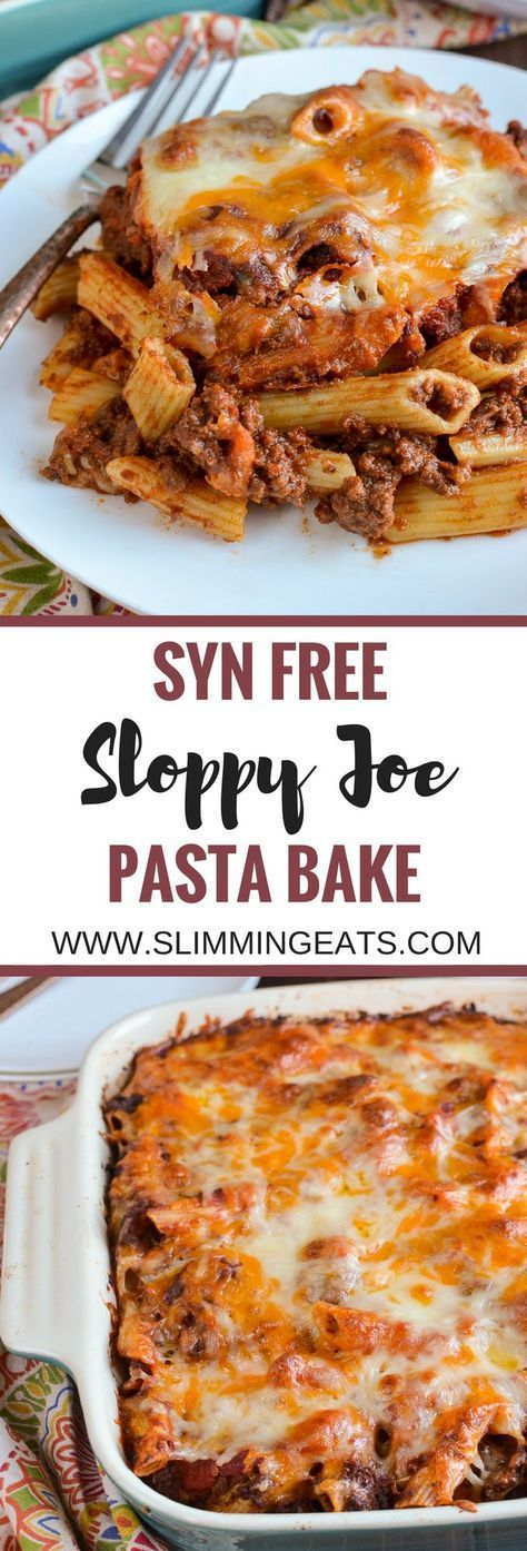 Syn Free Sloppy Joe Pasta Bake  gluten free Slimming World and Weight Watchers friendly