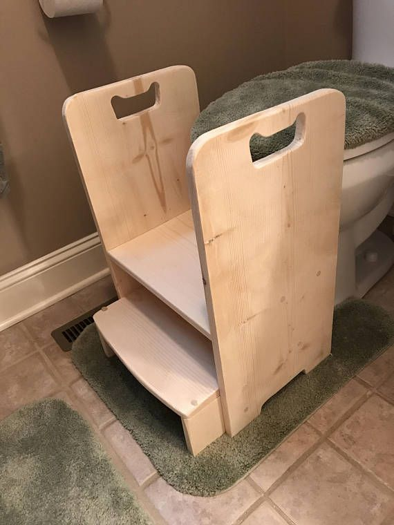 Wooden Toilet Step Stool