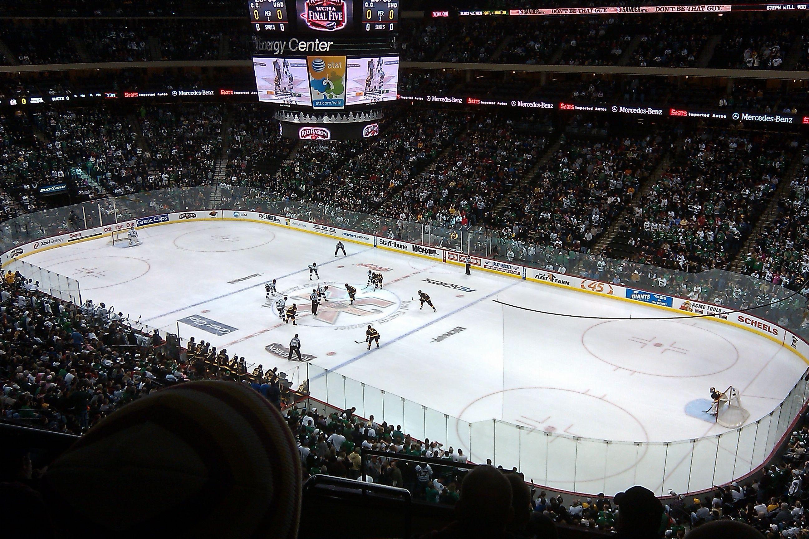 Xcel Energy Center Hockey Minnesota Sports