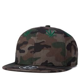 Maple Leaf Camouflage Hip Hop Cap Unisex Sliding Plate Baseball Cap 503