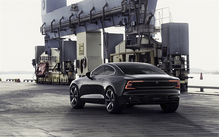 Wallpapers 2020 Polestar 1 2018 New Luxury Cars Sports Coupe Black Volvo S90 Swedish