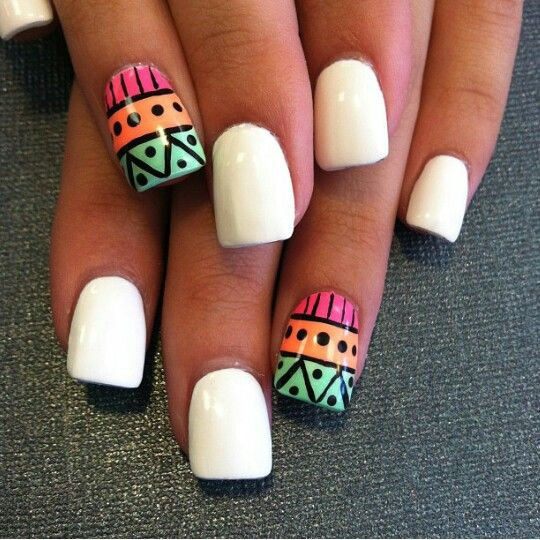Pretty aztec nail design - Pretty Aztec Nail Design Pretty Polish Pinterest Aztec Nail