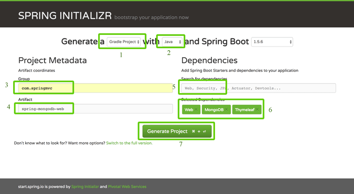 Spring Boot, MVC, Data and MongoDB CRUD Java Web