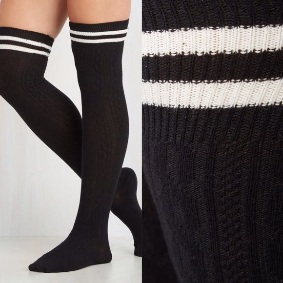 7c8371997 ⭐️LOWEST⭐ Fantastic Class Thigh Highs in Black ⭐️LOWEST PRICE UNLESS  BUNDLED⭐ New in packaging - ordered online from ModCloth and brand is Girly.