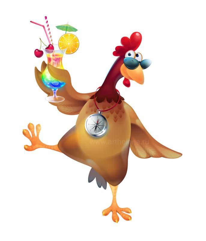 Курица открытки прикол