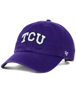 100% authentic 2c1d4 c2b36 ... netherlands 47 brand texas christian horned frogs ncaa clean up cap  purple adjustable cc206 621c8