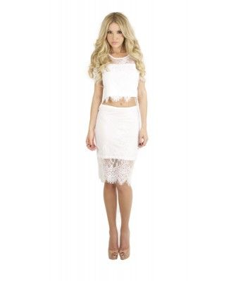 Felicity Lace Two Piece - White dress. Price: 79.00 AUD