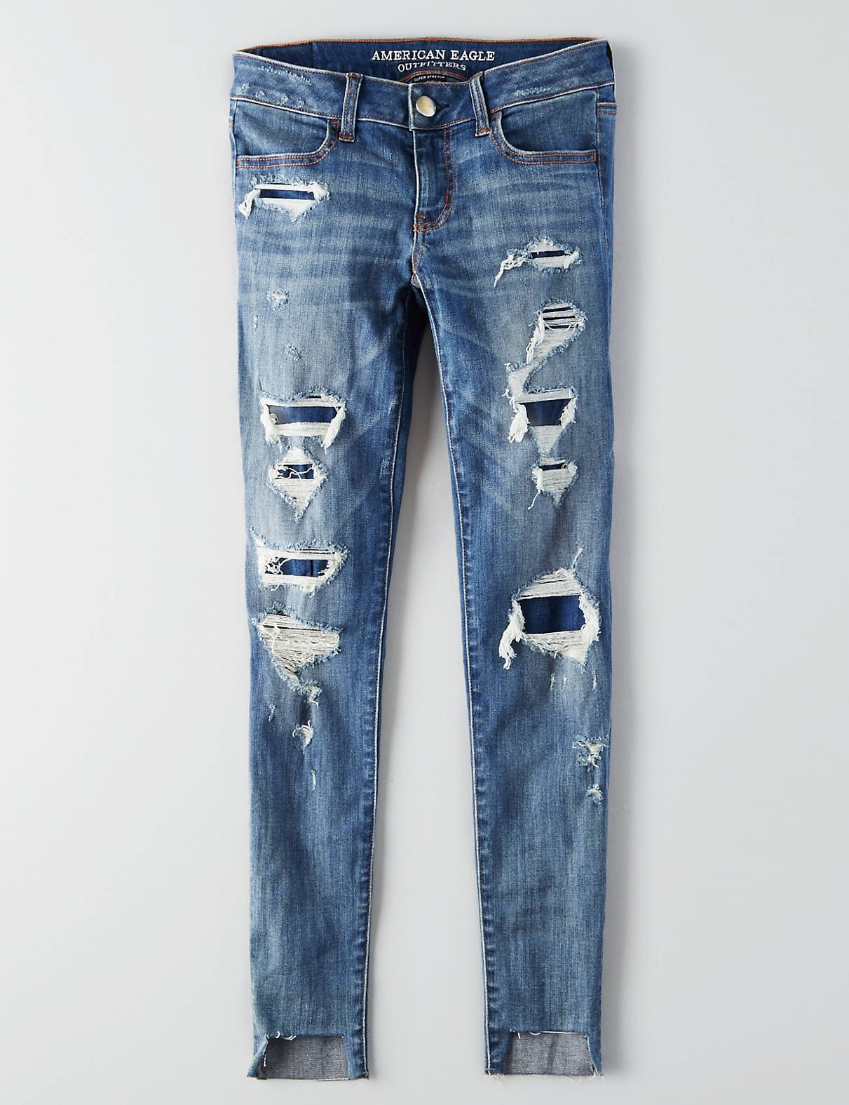 mens ripped skinny jeans american eagle