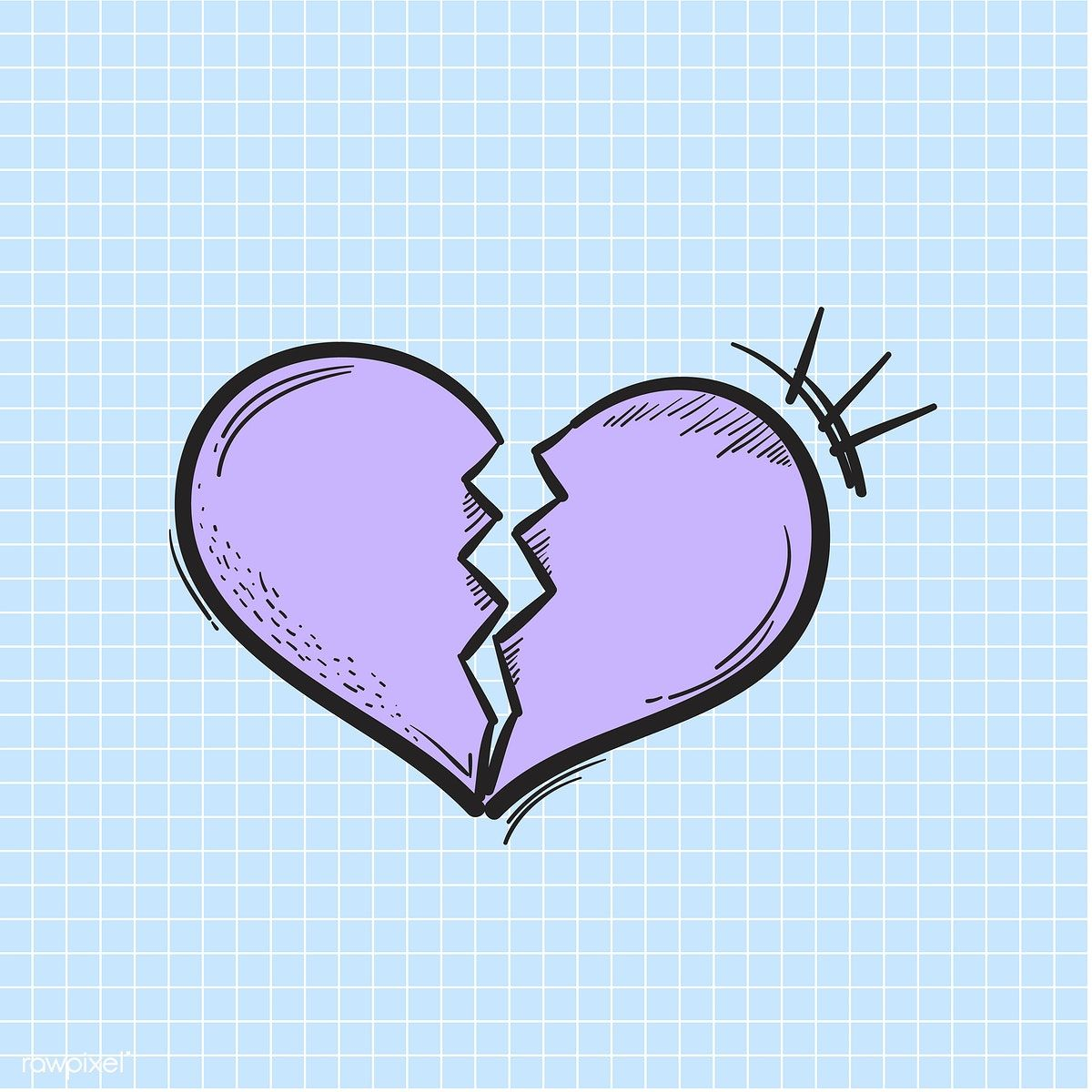 Vector of heart broken icon free image by