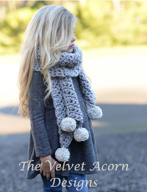Crochet PATTERN-The Pebble Scarf (Small, Medium and Large sizes ...