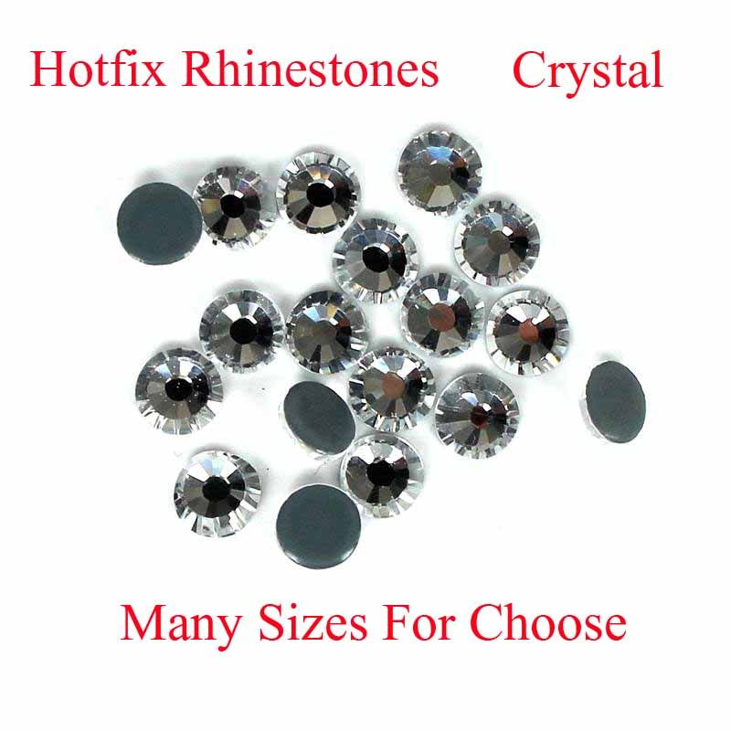 9892e968a8e6 Crystal Color Hotfix Strass Rhinestones Many Sizes With Glue Backing Iron  On Glass Diamond Perfect For Clothes Shoes Dresses DIY