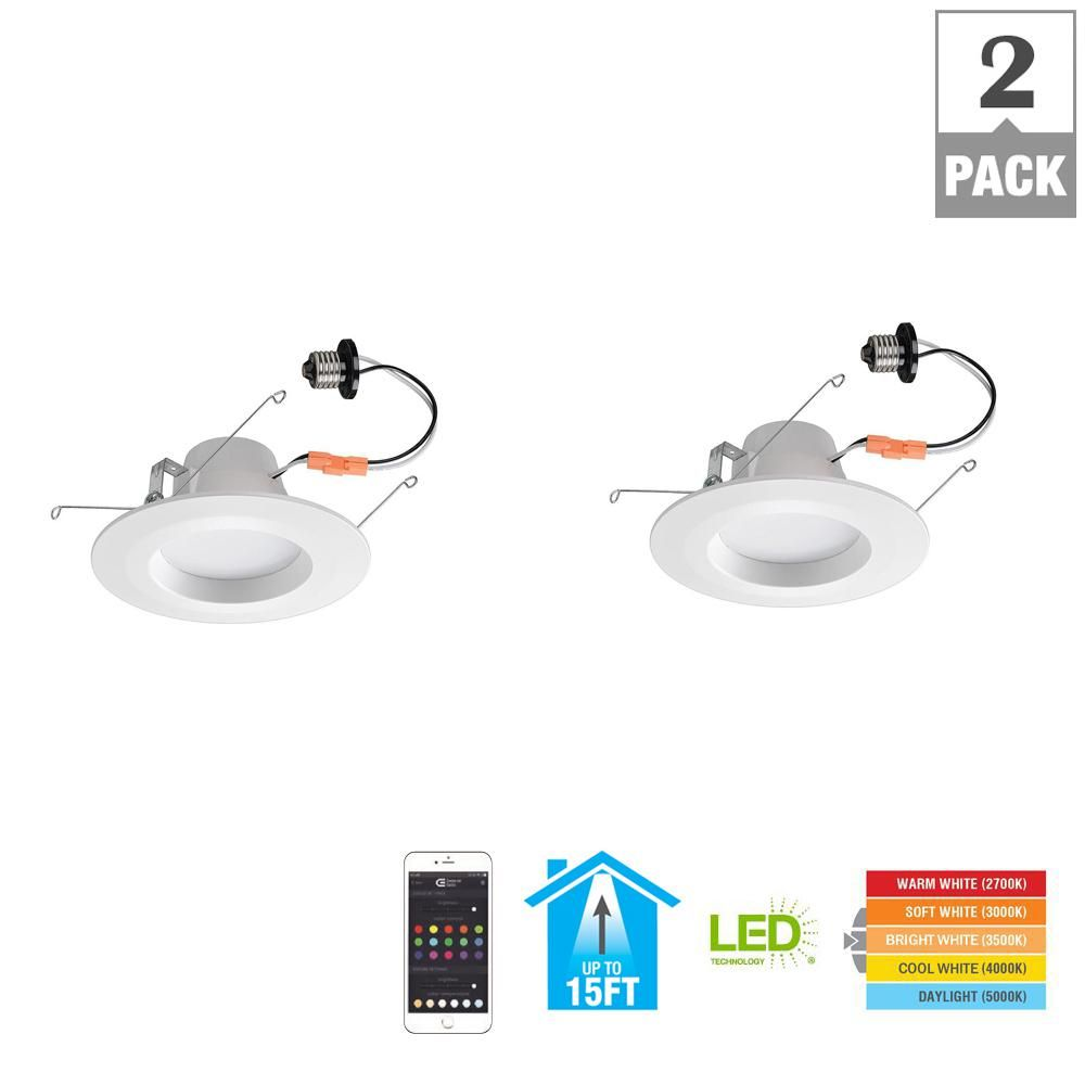Commercial Electric Bluetooth 5 in  and 6 in  65w Equivalent