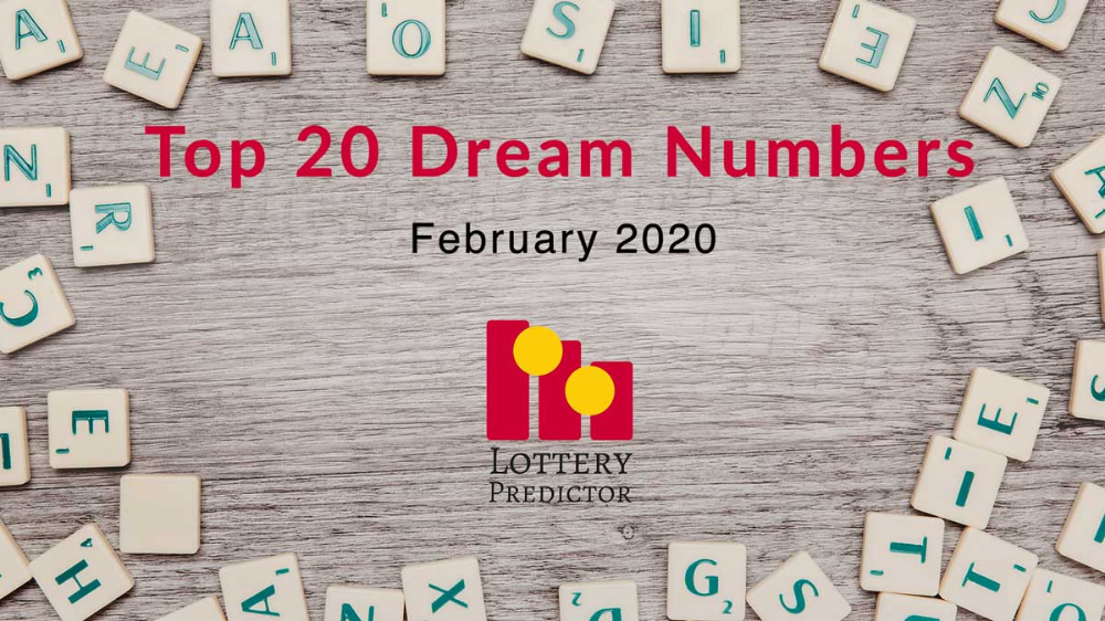 Here Are The Top 20 Most Popular Lottery Dream Numbers For February 2020 As Searched For By Users Of Lottery Pr In 2020 Winning Lottery Numbers Lottery Lottery Numbers