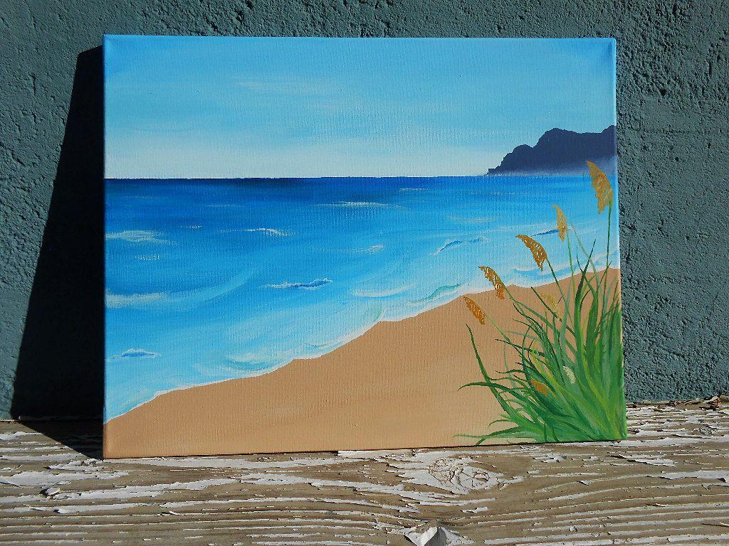 Beach Landscape Painting Original Acrylic Painting Beach Painting Acrylic Landscape Painting Beach Deco Landscape Paintings Acrylic Beach Painting Painting