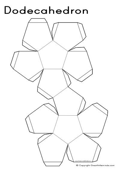 This is an image of Geometric Nets Printable for hexagonal pyramid