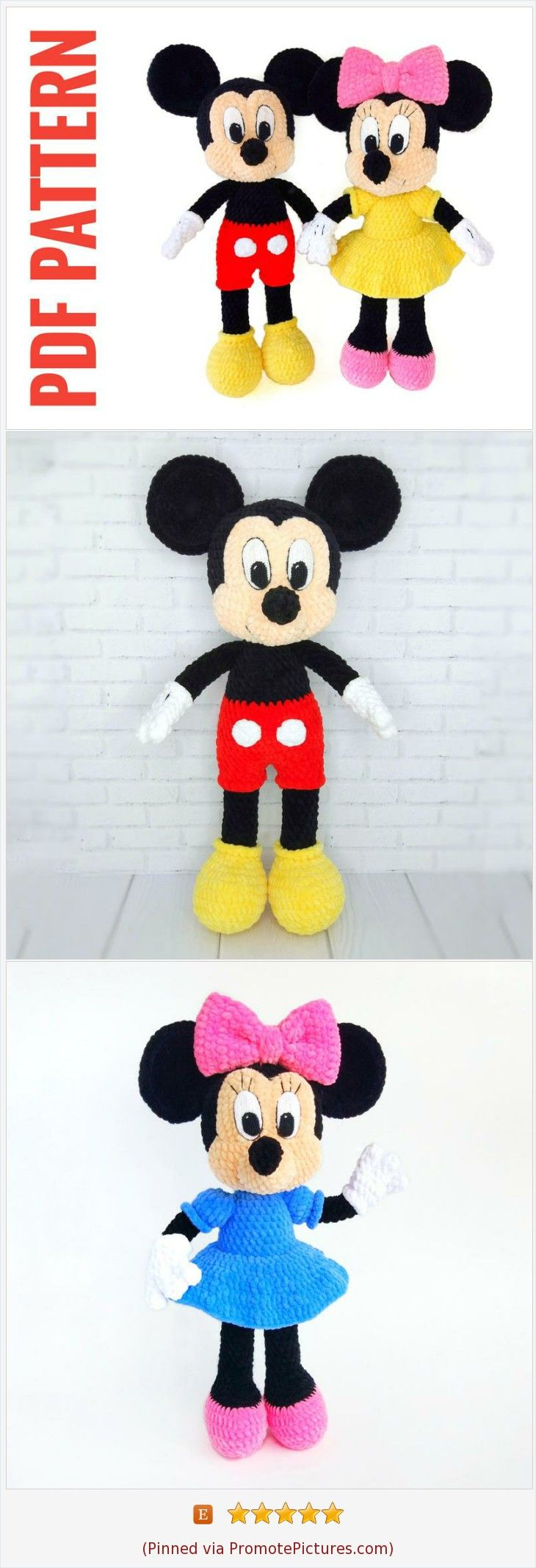 Patrones gratis Mickey Mouse amigurumi Free amigurumi patterns ...   2134x730