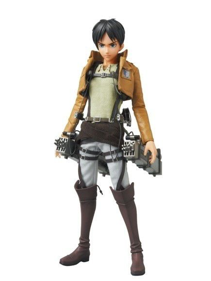 Eren Yeager Real Action Heroes #668 Figure by Medicom Toy