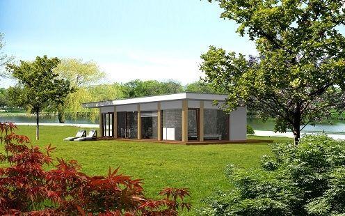Maison pr fabriqu e contemporaine cologique en bois ek 006 by ekokoncept eko koncept wooden for Maison prefabriquee bois